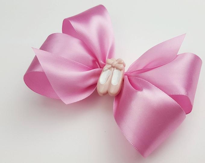 Mauve Ballet Slipper Hair Bow - Girls Hair Bow - Toddler Hair Bow - Pointe Shoe Hair Bow - Satin Ribbon HairBow - Hair Accessory - Hair Clip