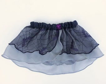 2T-3T Girls Bat Lace Ballet Skirt - Dancewear - Spider Web Ballet Skirt - Toddler Ballet Skirt - Faux Wrap Skirt - Tutu - Halloween Skirt