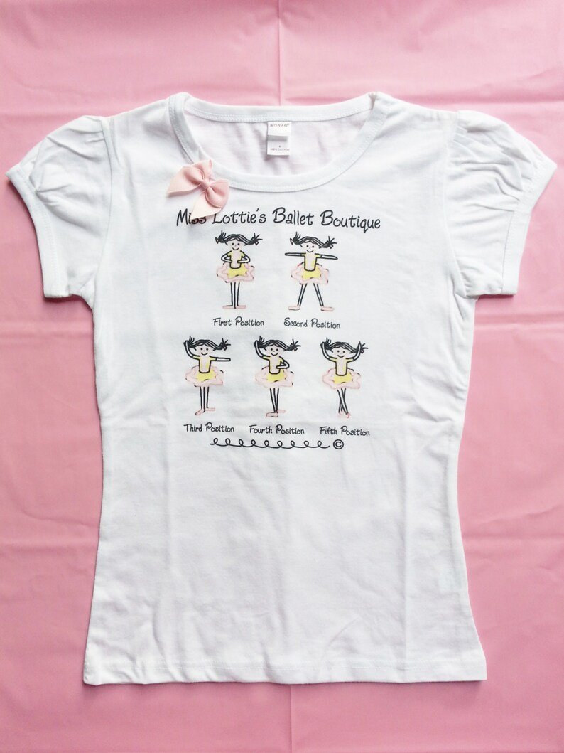 Girls Ballet Positions T-Shirt - Back to School - Childrens Clothing -  Girls Tee - Toddler tshirt - Kids t-shirt - Ballerina - Graphic Tee
