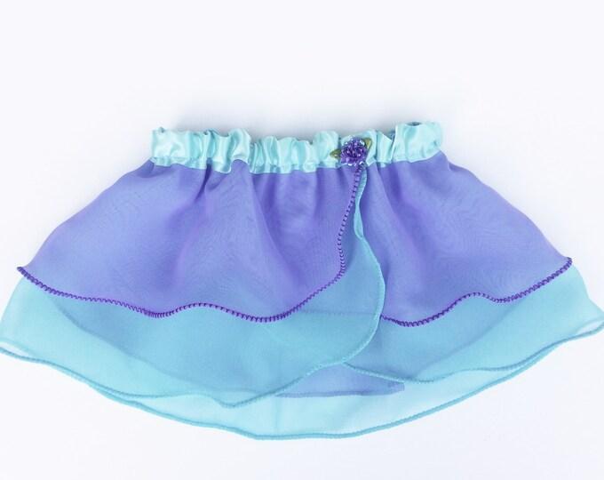 4T-5T Girls Mermaid Princess Ballet Skirt - Aqua Purple - Ballet Skirt - Childs Ballet Skirt - Toddler Ballet Skirt - Faux Wrap Skirt - Tutu