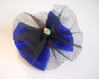 Snow Princess Hair Bow - Ice Queen - Glitter Tutu Hair Bow - Girls Blue Hair Bow - Toddler Hair Bow - Boutique Hair Bow - Hair Accessory