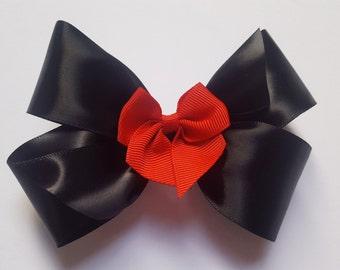 Minnie Dot Hair Bow - Girls Hair Bow - Toddler Hairbow - Satin Ribbon HairBow - Boutique Hair Bow - Hair Accessory - Hair Clip