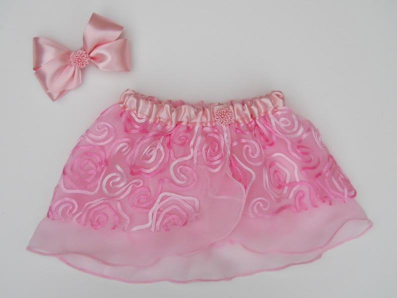 Pink Rosette Hair Bow Pink Bow Hair Accessory Toddler Hair Bow Hair Clip Satin Ribbon HairBow Girls Hair Bow Boutique Hair Bow