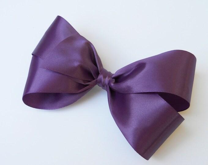 Amethyst Purple Hair Bow - Girls Hair Bow - Toddler Hair Bow - Satin Ribbon Hair Bow - Boutique Hair Bow - Hair Accessory - Hair Clip