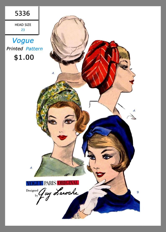 PILL BOX Hat Designer Mr John VOGUE #8547 Millinery Fabric Sewing Pattern