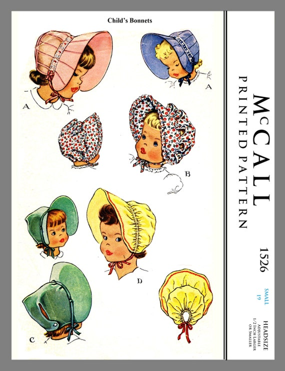 Baby Häubchen McCall Kinder Jahrgang Baby Mütze Stoff Material | Etsy