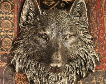 Wolf Head wall sculpture, home decor, gift, wall art, wolves, garden, garden decor, wildlife, wolf,