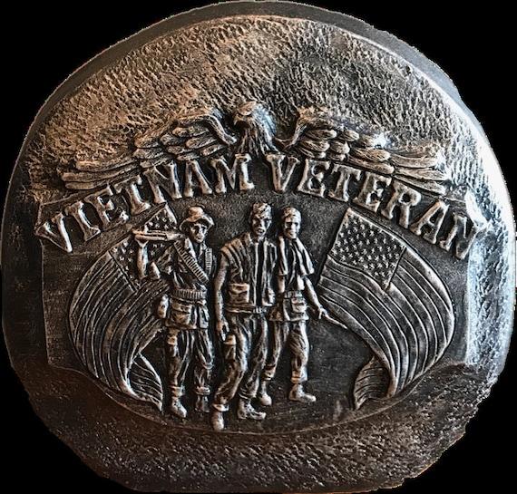 American Vinyl Round Agent Orange Health Club Sticker Vietnam Veteran Vet Lifetime Member