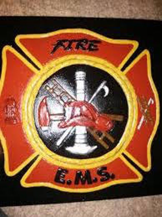 Plastic Mold Fire and EMS stepping stone, fire, emt, molds, abs plastic,  firefighter, garden decor,outdoor living