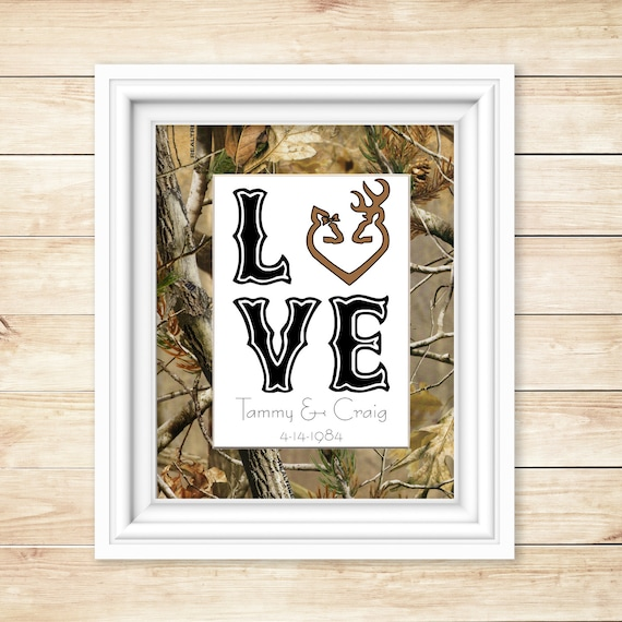 Attractive Unique Camo Gift For Wedding Personalized Camo Home Decor | Etsy