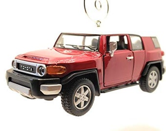 for Toyota FJ Cruiser SUV Large Christmas Ornament 1:38 Red