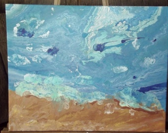 Acrylic Painting of the shore line