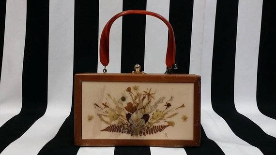 Vintage 1960s Wooden Box Purse from Lake Forest Il