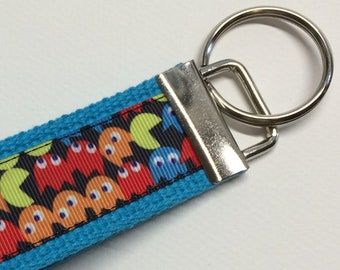 Pac-Man Arcade Game Inspired Key Fob/Key Chain/Wristlet *Ready to Ship*