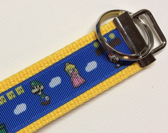 Mario Inspired Characters Key Fob/Key Chain/Wristlet *Ready to Ship*
