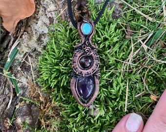 Opal Garnet Amethyst Wrap