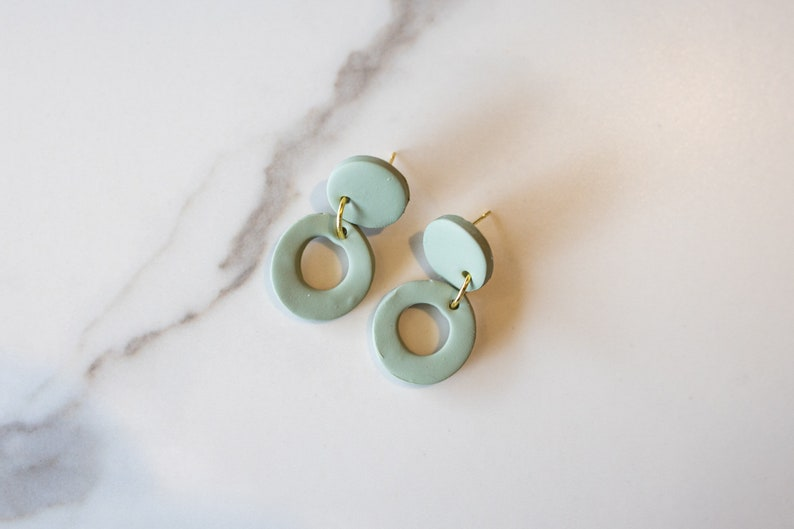 Polymer Clay Statement Earrings Retro Drop