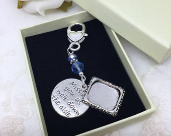 Missing You Saying Bridal Bouquet Charm Missing You Key