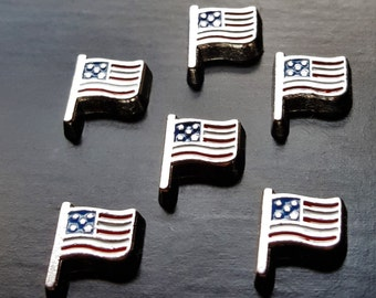 American Flag Floating Charm for Floating Lockets-1-Piece-Gift Idea