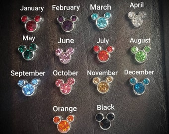 Mickey Mouse Ears September Birthstone Floating Charm