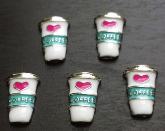 Coffee Floating Charm for Floating Lockets