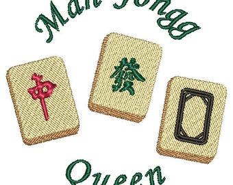 Mah Jongg Digitized Embroidery Design