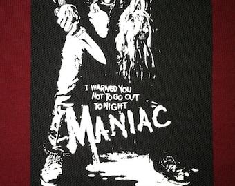Maniac Cloth Punk Patch