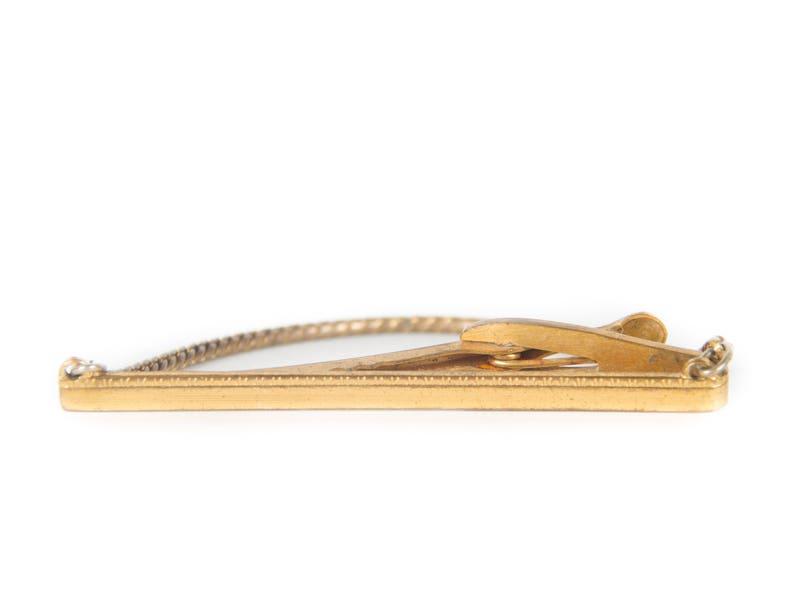 Gold Tie Clip / 2.5 Tie Clip / Gold Mens Tie Clip / image 0
