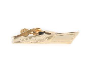 """Gold Tie Clip / 1.75"""" Skinny Tie Clip / Mid Century / Gold Mens Tie Clip / Vintage Gold Tie Clip / Old Tie Clip / Small Tie Clip Antique"""