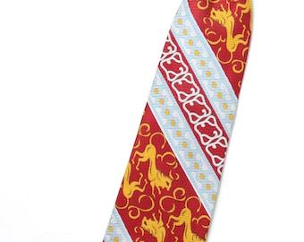 Vintage Boys / Mens Short Clip On Tie / Childrens Boys Tie / Lion La Bella Collection Snapper Clipon / Toddlers Boys Ties / Little Boys Tie