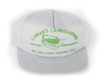 Vintage Lamar's Landscaping Nursery Greenhouse Trucker Cap / Grey Mens Trucker Hat Cap / Jasper, AL Trucker Cap / Baseball Cap