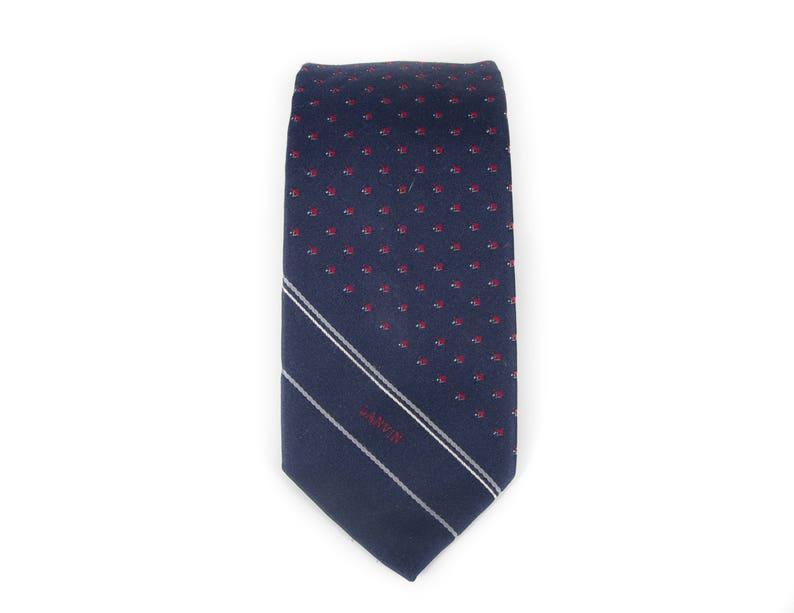 Vintage Necktie / Polyester & Silk 3 Mens Tie / Blue and image 0