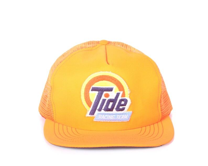 Vintage Orange Trucker Hat / Tid Racing Mens Hat / Nascar image 0