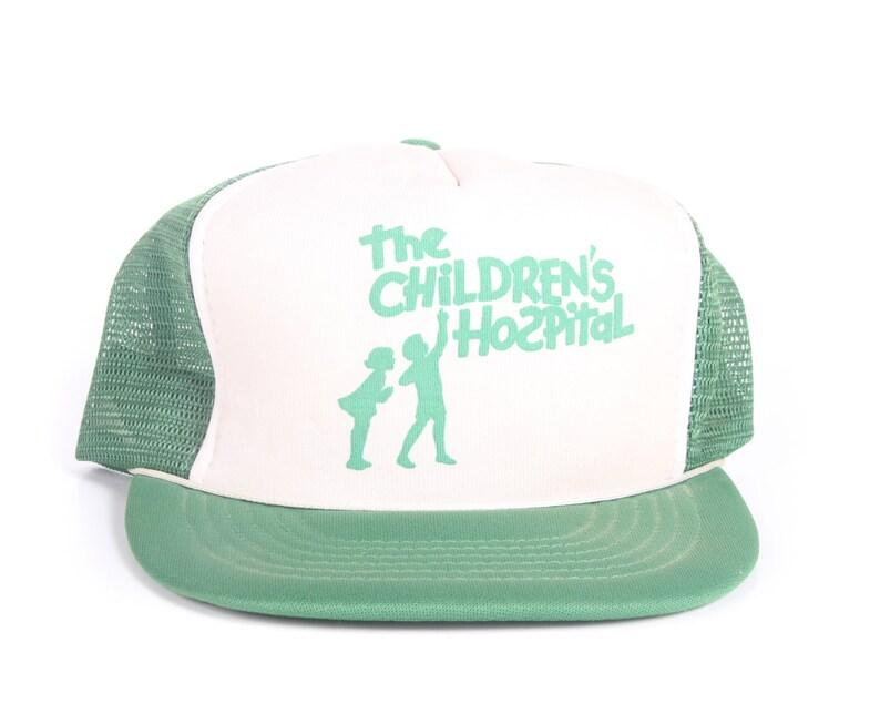 Vintage Green Trucker Cap / Children's Hospital Trucker image 0