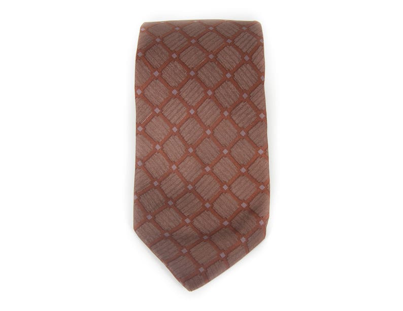 Vintage Necktie / Italian Silk 3 Mens Tie / Brown Gus image 0