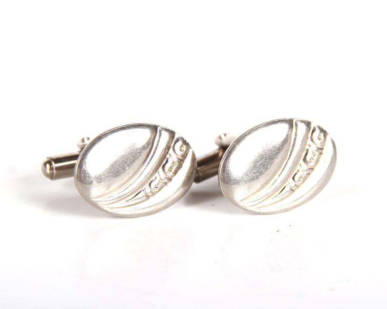 Silver Cufflinks / Mens Cuff Links / Old Cufflinks / Vintage image 0