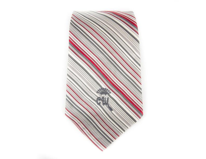 Vintage Necktie / 3.5 Countess Mara Mens Tie / Gray & image 0