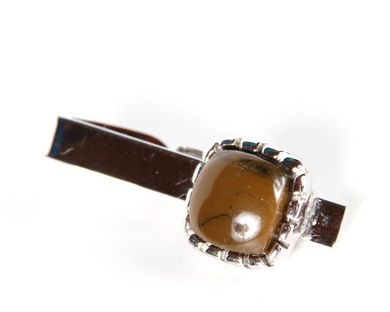 Vintage Silver Tie Clip / Mens Tie Clip / Mens Fashion / image 0