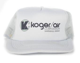Vintage Koger Air Trucker Cap / Grey Virginia Hat / Mens Baseball Trucker Hat Cap / Trucker Cap / Baseball Cap / Baseball Hat