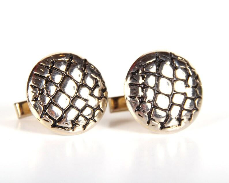 Mens Gold Cufflinks / Round Cufflinks / Mens Cufflink / image 0