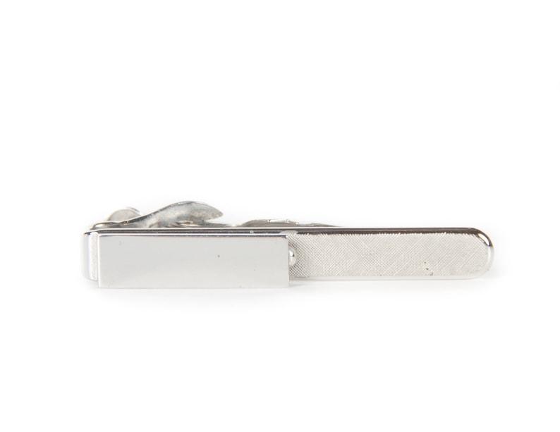 Silver Tie Clip / 1.5 Skinny Tie Clip / Mid Century / image 0