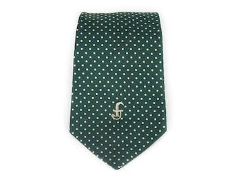 """Vintage Necktie / Wide 4.25"""" Silk Tie / John Frederics Green Gentlemen's Necktie / Mens Tie / Mens Neckties / Guys Necktie Gifts for Guys"""