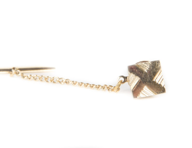 Vintage Gold Tie Pin / Antique Mens Tie Pin / Mens Jewelry / image 0