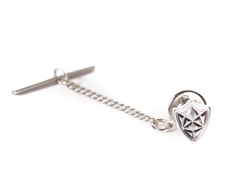 Vintage Silver Tie Pin / Mens Tie Pin / Mens Jewelry / Classic image 0