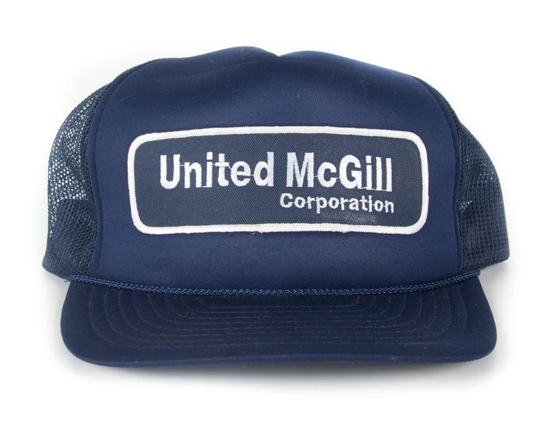 Vintage United McGill Trucker Cap / Blue Baseball Hat / image 0