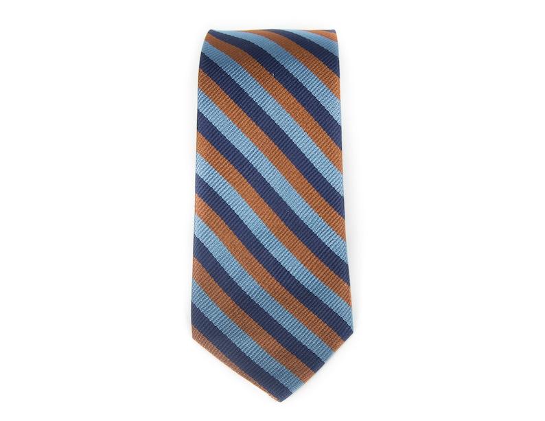 Vintage Necktie / 2.75 Blue Mens Tie / Polyester Necktie image 0
