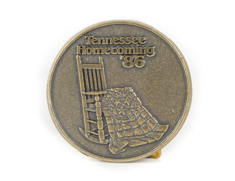 Vintage 1986 Tennessee Homecoming '86 Belt Buckle / image 0