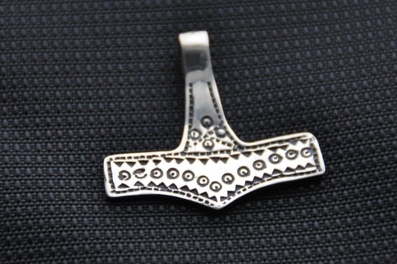 Mj\u00f6llnir Sterling silver Thor/'s Hammer