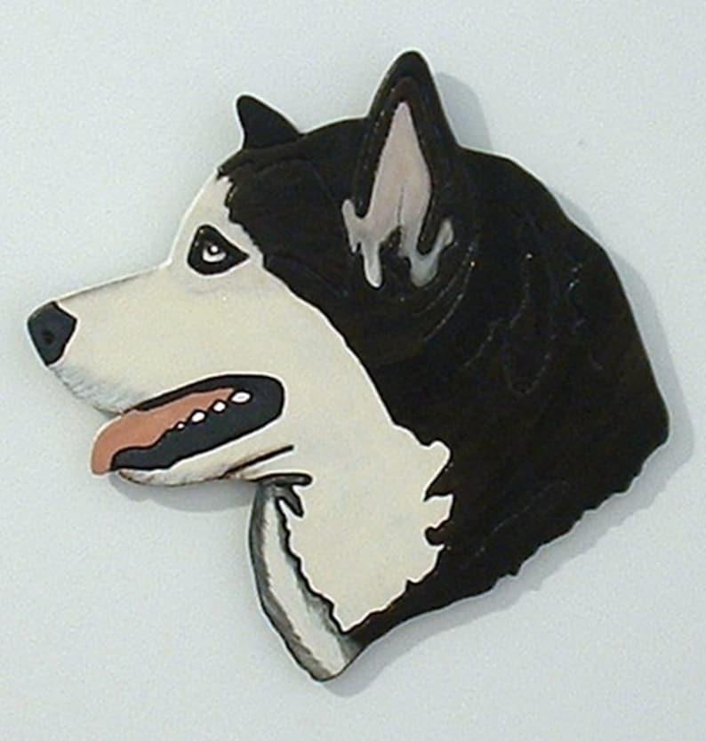 Dog Alaskan Malamute Wood Wall Art Pet Memorial Family image 0