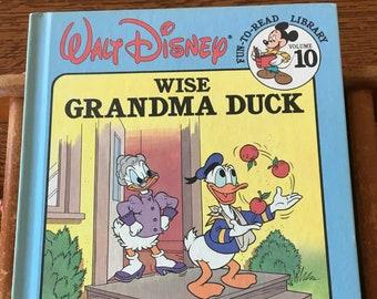 1986 Walt Disney Wise Grandma Duck Beginning Reader Vol 10 Book Collection Excellent Condition